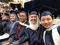2018 graduates from the Islamic Studies program. From left, Seyda Karaoghlu, Halim Khoiri, Kelly El-Yacoubi and Yi Lei.