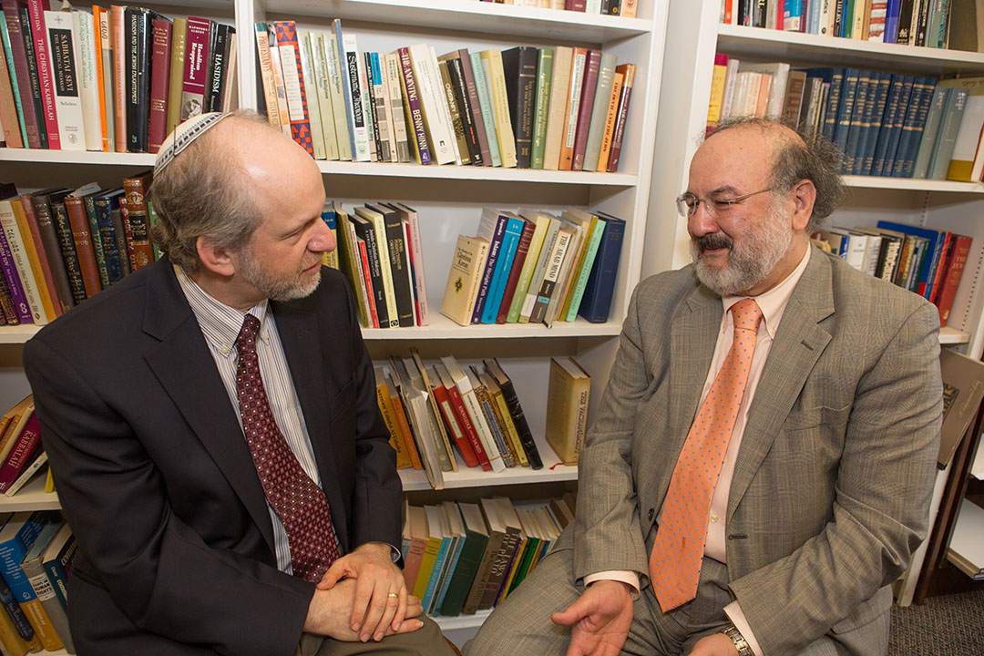 GW Religion Department professors Robert Eisen and Mohammad Faghfoory