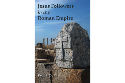 "Book cover for ""Jesus Followers in the Roman Empire""."